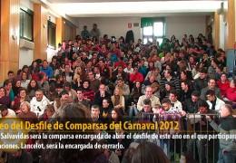 Sorteo del Desfile de Comparsas del Carnaval 2012