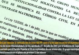 IU pedirá por moción la retirada del recurso del PP contra la ley que reconoce el matrimonio gay