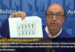 Cerca de 7.400 turistas más en 2011
