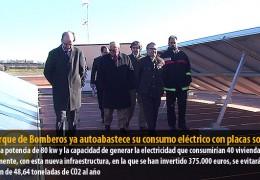 El Parque de Bomberos ya autoabastece su consumo eléctrico con placas solares