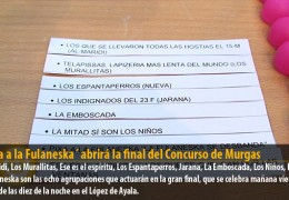 `Pixa a la Fulaneska´ abrirá la final del Concurso de Murgas
