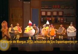 Actuación de Los Espantaperros (Final 2012, 4º puesto)