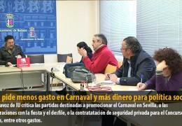 Sosa pide menos gasto en Carnaval y más dinero para política social