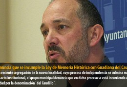 IU denuncia que se incumple la Ley de Memoria Histórica con Guadiana del Caudillo