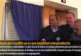 Guadiana del Caudillo ya es una localidad independiente