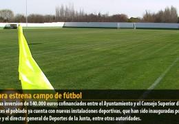 Gévora estrena campo de fútbol