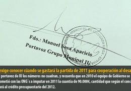 Sosa exige conocer cúando se gastará la partida de 2011 para cooperación al desarrollo