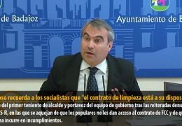 Fragoso recuerda a los socialistas que «el contrato de limpieza está a su disposición»