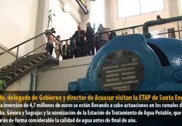 Alcalde, delegado de Gobierno y director de Acuasur visitan la ETAP de Santa Engracia