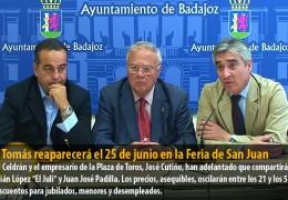 José Tomás reaparecerá el 25 de junio en la Feria de San Juan