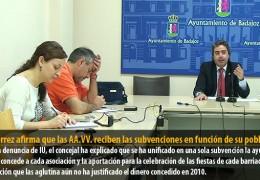 Gutiérrez afirma que las AA.VV. reciben las subvenciones en función de su población