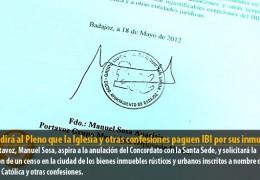 IU pedirá al Pleno que la Iglesia y otras confesiones paguen IBI por sus inmuebles