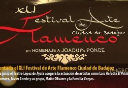 Presentado el XLI Festival de Arte Flamenco Ciudad de Badajoz