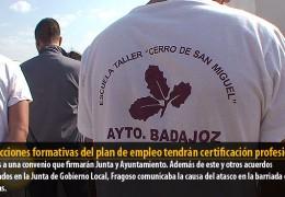 Las acciones formativas del plan de empleo tendrán certificación profesional