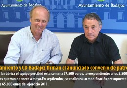 Ayuntamiento y CD Badajoz firman el anunciado convenio de patrocinio