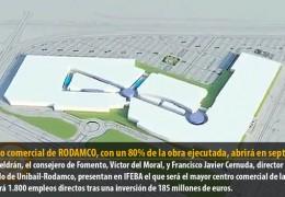 El centro comercial de RODAMCO, con un 80% de la obra ejecutada, abrirá en septiembre