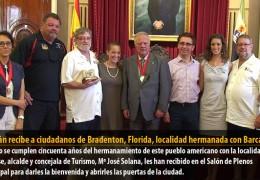 Celdrán recibe a ciudadanos de Bradenton, Florida, localidad hermanada con Barcarrota