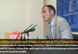 Los socialistas insisten en que llevarán el contrato de FCC al Tribunal de Cuentas