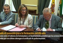 Firmado el convenio para la formación certificada