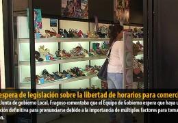 A la espera de legislación sobre la libertad de horarios para comercios