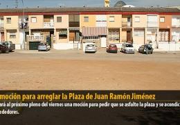 Una moción para arreglar la Plaza de Juan Ramón Jiménez