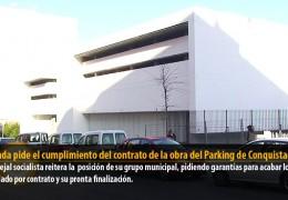 Miranda pide el cumplimiento del contrato de la obra del Parking de Conquistadores