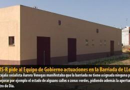 El GMS-R pide al Equipo de Gobierno actuaciones en la Barriada de LLera