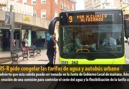 El GMS-R pide congelar las tarifas de agua y autobús urbano