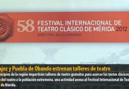 Badajoz y Puebla de Obando estrenan talleres de teatro