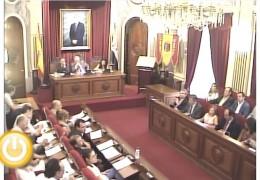 Pleno ordinario de Septiembre de 2012 del Ayuntamiento de Badajoz