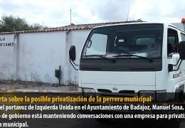 IU Badajoz alerta sobre la posible privatización de la perrera municipal