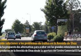 PSOE pide soluciones a los problemas de tráfico en la Avenida de Elvas