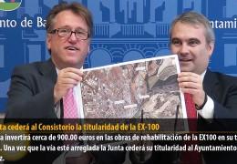 La Junta cederá al Consistorio la titularidad de la EX-100