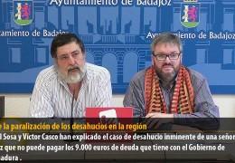 IU pide la paralización de los desahucios en la región