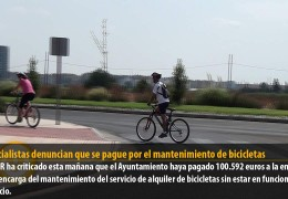Los socialistas denuncian que se pague por el mantenimiento de bicicletas