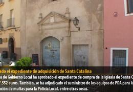 Aprobado el expediente de adquisición de Santa Catalina