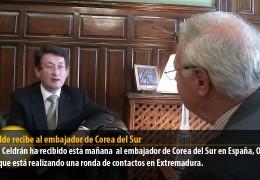 El alcalde recibe al embajador de Corea del Sur