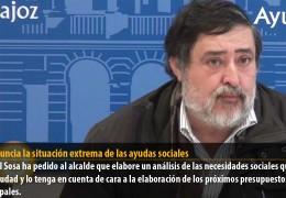IU denuncia la situación extrema de las ayudas sociales