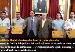 La Inmobiliaria Municipal  entrega las llaves de cuatro viviendas