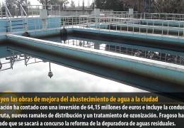 Concluyen las obras de mejora del abastecimiento de agua a la ciudad
