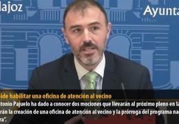 PSOE pide habilitar una oficina de atención al vecino