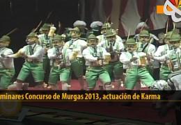 Actuación  de Karma (Preliminares 2013)