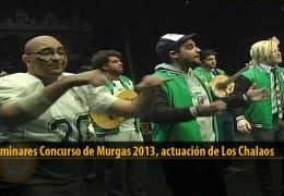 Actuación  de Los Chalaos (Preliminares 2013)