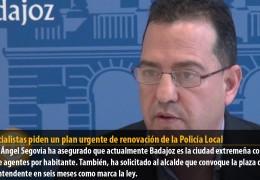 Los socialistas piden un plan urgente de renovación de la Policía Local