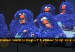 Actuación  de Hijos de la Luna (Preliminares 2013)