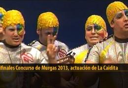 Actuación  de La Caidita (Semifinales 2013)
