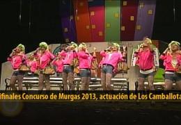 Actuación  de Los Camballotas (Semifinales 2013)