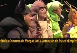 Actuación  de Ese es espíritu (Semifinales 2013)