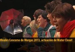 Actuación  de Los Water Closet (Semifinales 2013)