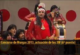 Actuación de Los 3W (6º puesto Final 2013)